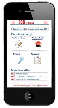 Mobiltelefon med EQS