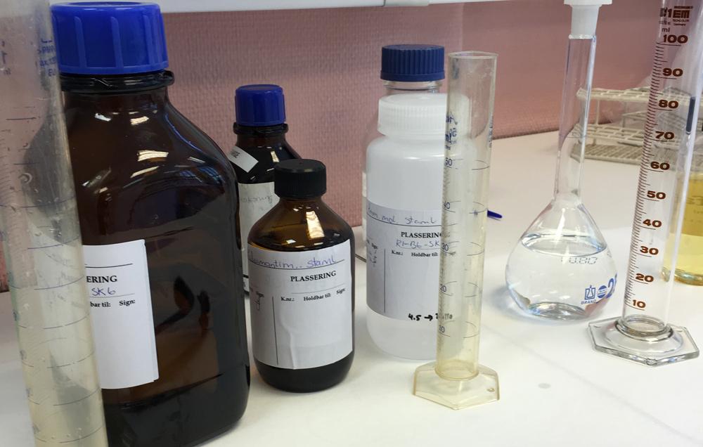 Laboratorieprøver fra Fjellab
