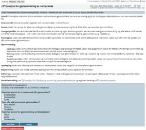 Eksempel på dokumentstyring i EQS - implementeringstest for et dokument