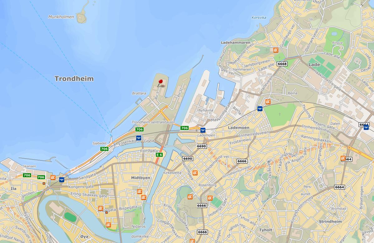 Extend AS - Leiv Eiriksson Senter kart